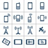 Mobile devices and wireless technology Royalty Free Stock Images