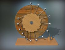 Mobile di Perpetuum Macchina di moto perpetuo del ` s di Leonardo da Vinci fotografie stock libere da diritti