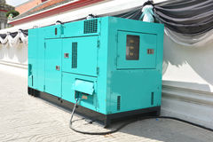 Mobile diesel generator for emergency electric power Stock Photos