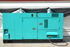 Mobile diesel generator for emergency electric power Stock Image