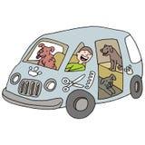 Mobile Dog Groomer Stock Image