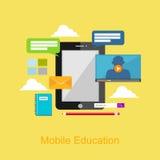 Mobile education illustration. Stock Photos