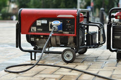 Mobile electrical generator on street Stock Photography