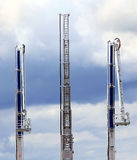Mobile fire escape with rescue cradle Royalty Free Stock Images