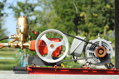Mobile Fire pump water Stock Images