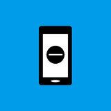 Mobile flat icon. Mobile phone flat icon Stock Image
