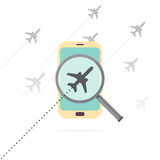 Mobile Flight Search Stock Images
