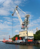Mobile floating crane Stock Photo