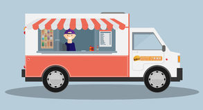 Mobile food car. Vector Royalty Free Stock Photos