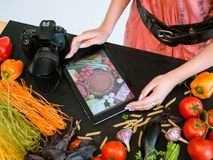 Mobile food photography advertisment e-commerce Stock Image