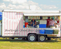 Mobile food trailer at event Great Barrington MA Berkshires Royalty Free Stock Images