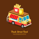 Mobile Food Van Royalty Free Stock Photo