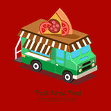 Mobile Food Van Stock Photo