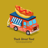 Mobile Food Van Royalty Free Stock Images