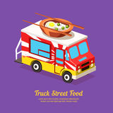 Mobile Food Van Royalty Free Stock Photography