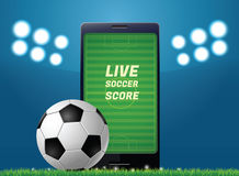 Mobile football Royalty Free Stock Image