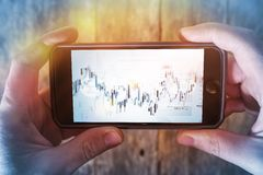 Mobile Forex Trader Royalty Free Stock Image