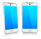 Mobile futé 3D et 2D de cellules de téléphone Photos libres de droits
