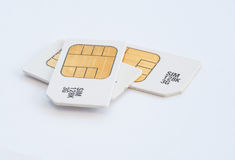 Mobile 3G memory sim cards Stock Images