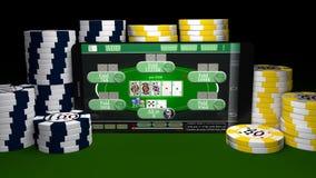 Mobile Gambling Stock Photography