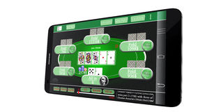 Mobile Gambling Royalty Free Stock Photography