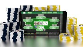 Mobile Gambling Royalty Free Stock Images