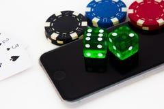 Mobile Gambling royalty free stock photo