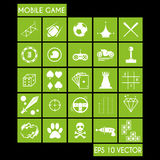 Mobile Game Icon Set Royalty Free Stock Photography