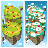 Mobile Game Level Map Concept Royalty Free Stock Photo