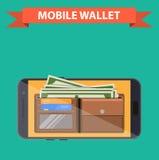 Mobile Geldbörse Digital lizenzfreie abbildung