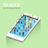 Mobile generation concept Royalty Free Stock Images