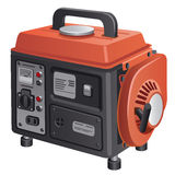 Mobile generator. Illustration of the mobile generator Stock Images
