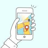 Mobile gps navigation concept vector illustration