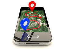 Mobile GPS navigation Stock Photos