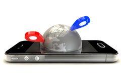 Mobile GPS navigation royalty free illustration