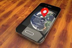 Mobile GPS navigation Royalty Free Stock Photography