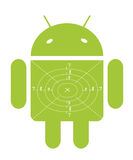 Mobile Green Android target Stock Image
