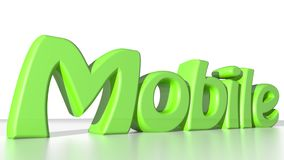 Mobile green Royalty Free Stock Images