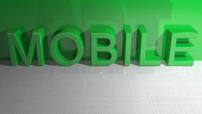 Mobile Green Royalty Free Stock Image