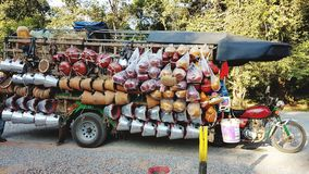 A mobile grocery store in Siem Reap stock photos