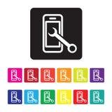 Mobile hält Ikone instand Stockfotos