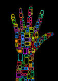 Mobile Hand royalty free illustration