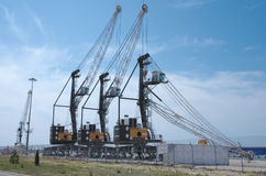 Mobile harbor crane Liebherr LHM 180 Royalty Free Stock Photography