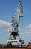 Mobile harbour crane Royalty Free Stock Images