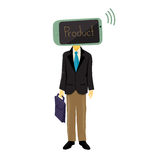 Mobile Head Salesman Stock Photo