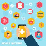 Mobile health concept Royalty Free Stock Photos