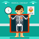 Mobile health mHealth, diagnosis and monitoring of Royalty Free Stock Image
