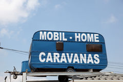 Mobile home and caravan Royalty Free Stock Image