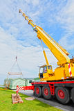 Mobile home caravan crane Royalty Free Stock Photography