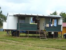 Mobile home in Czech Republic royalty free stock image